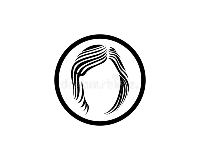 hair woman and face logo and symbols vector illustration