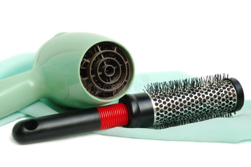 hairbrush более сухих волос стоковые фотографии rf
