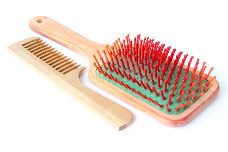 Download Hairbrush stock image. Image of cosmetic, fashion, care - 6116421