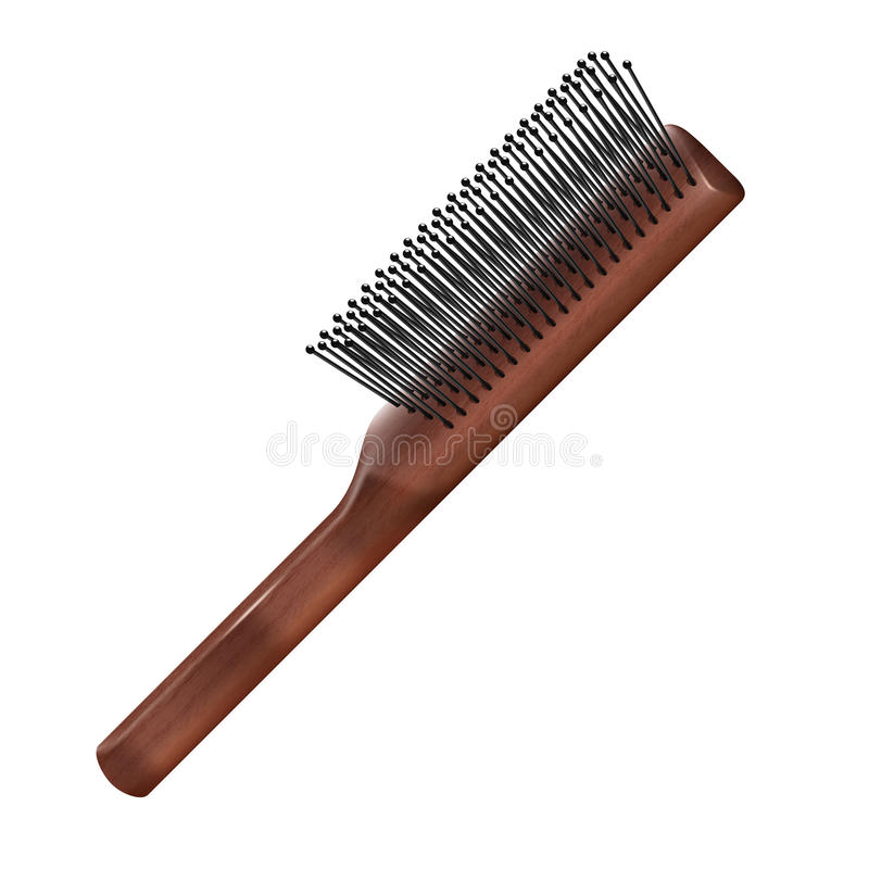 hairbrush stock de ilustración