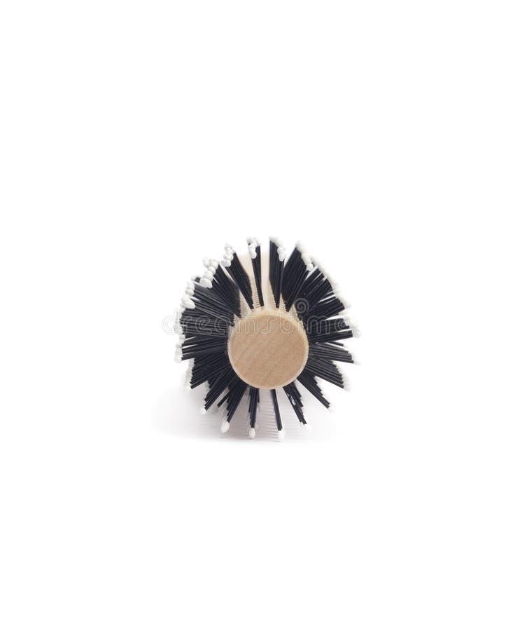 Hairbrush de madeira imagens de stock