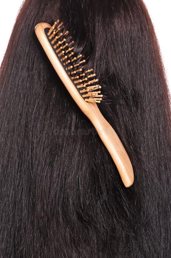 Hairbrush de madeira foto de stock royalty free