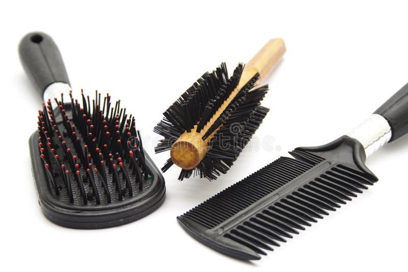 Hairbrush diferente fotos de stock