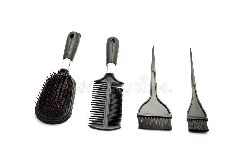 Hairbrush diferente fotografia de stock royalty free