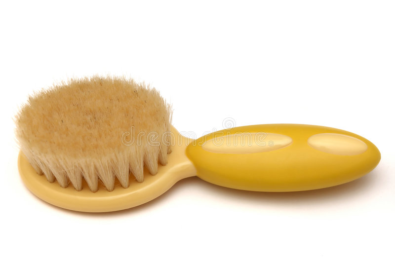 Hairbrush do bebê isolado no branco fotografia de stock royalty free
