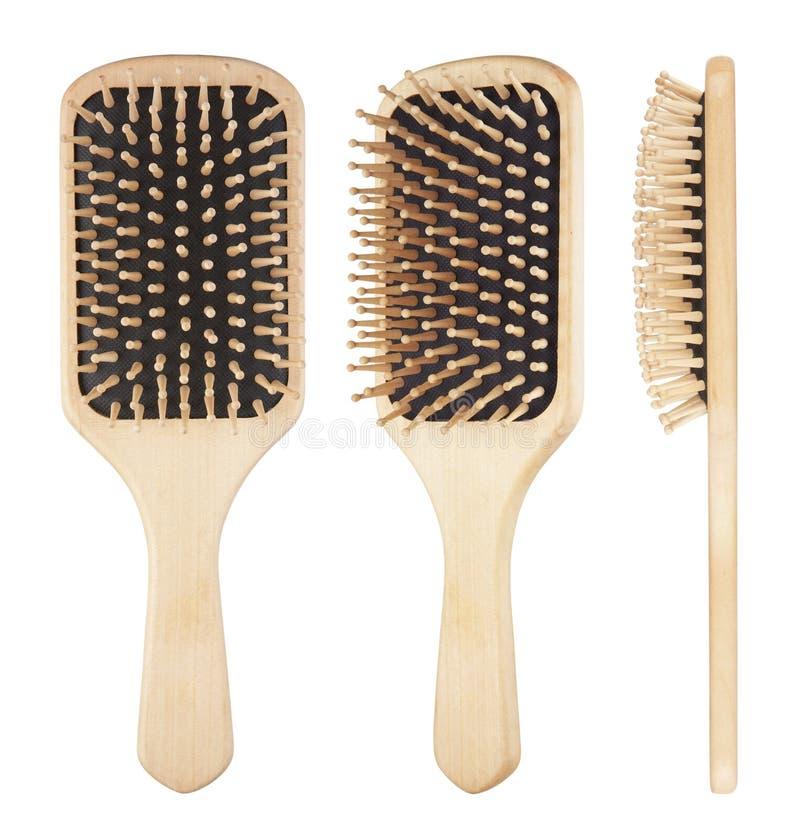 Hairbrush en bois image libre de droits