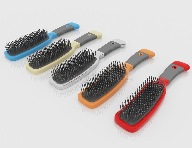 hairbrushes royalty ilustracja