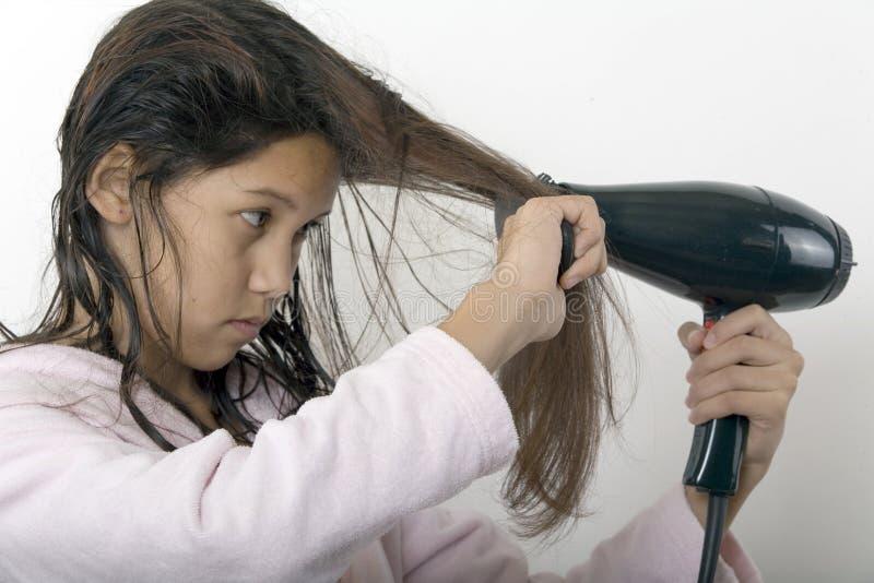 Download Hairbrushing στοκ εικόνες. εικόνα από ανθρώπινος, έφηβος - 1534404