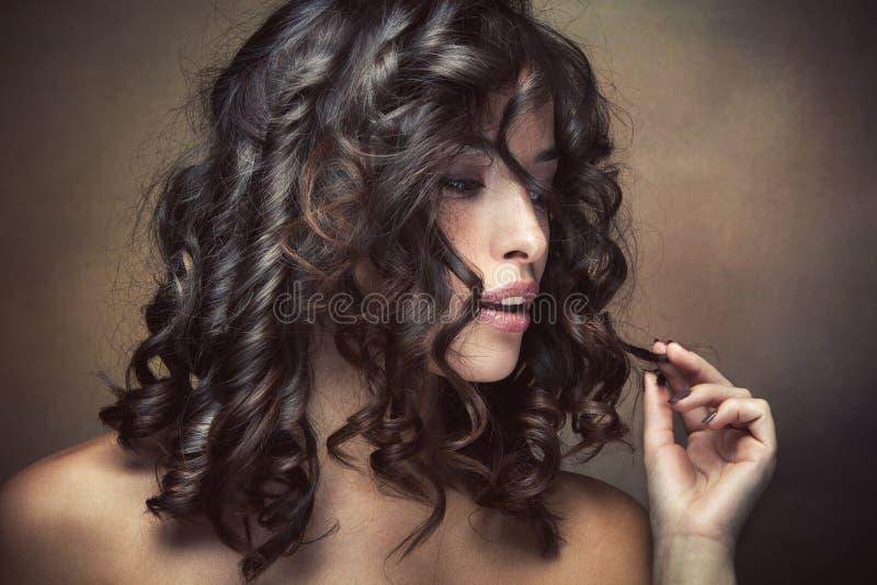 Download Haircare imagem de stock. Imagem de brunette, retrato - 26508247