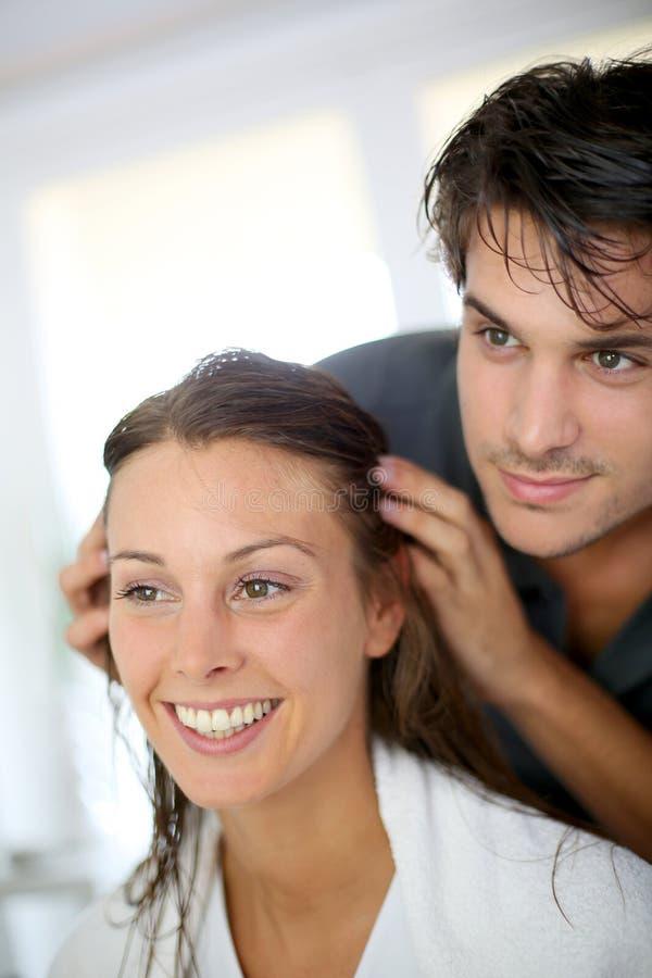 Haircare royaltyfri bild