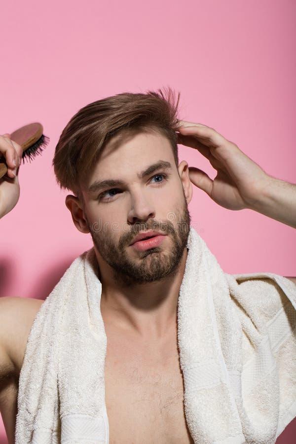 Haircare, bem-estar, saúde fotografia de stock royalty free