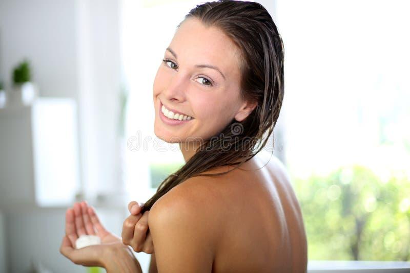 Haircare e bellezza fotografia stock libera da diritti