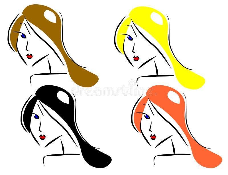 Haircolors da amostra ilustração do vetor