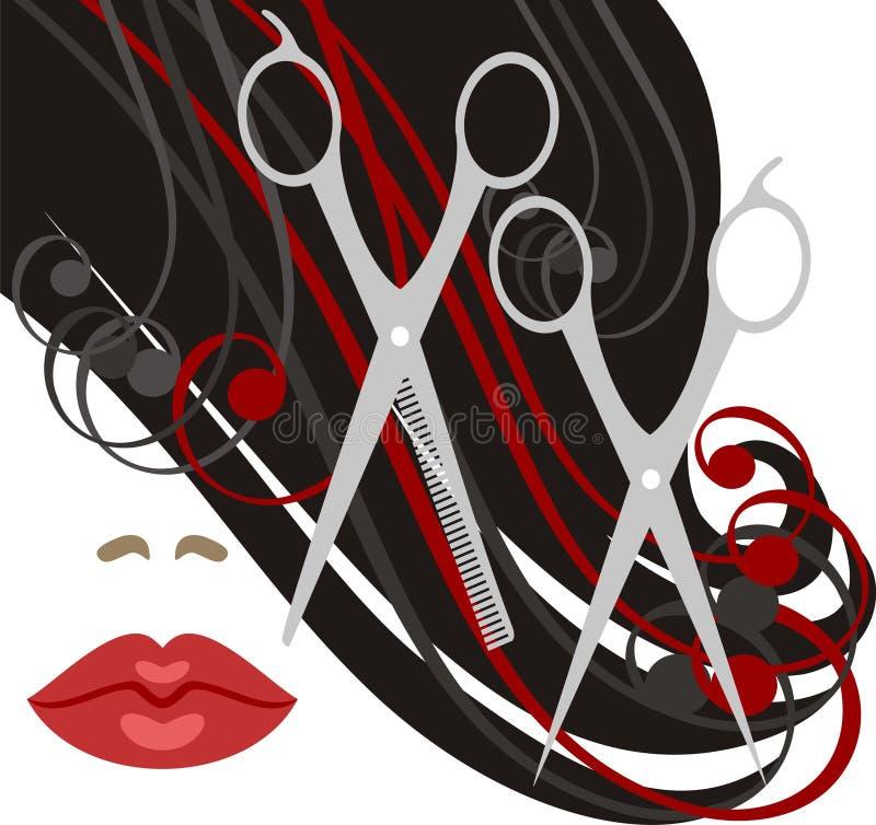haircut ilustración del vector