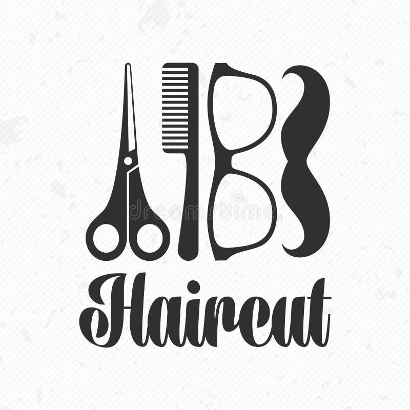 Hair Style Template: Haircut Vector Logo Stock Vector. Illustration Of