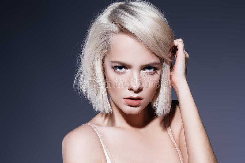 Haircuts for short hair royalty free stock image