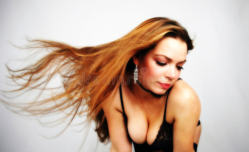 Download Hairdance-4 stock photo. Image of women, attractive, wind - 39200
