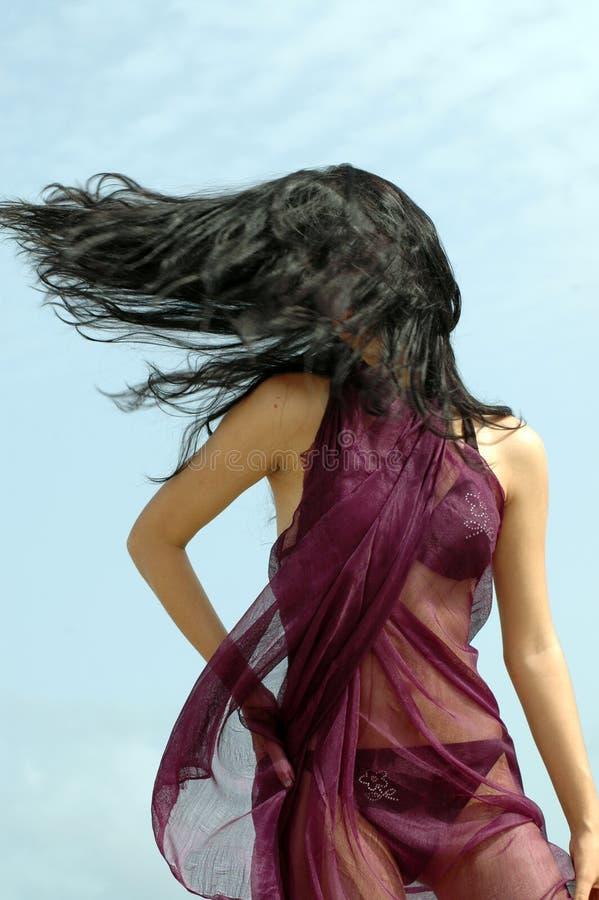 Hairdance del bikiní imagen de archivo libre de regalías