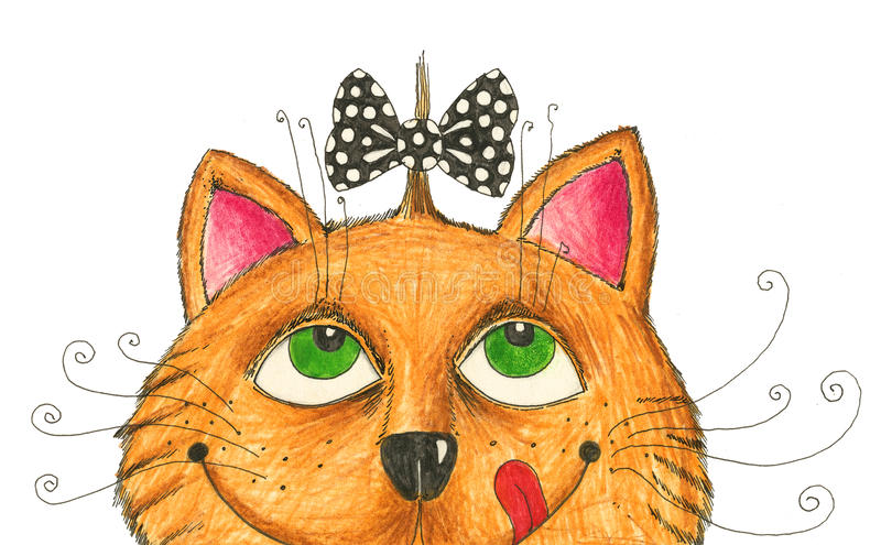 hairdo кота смешной бесплатная иллюстрация