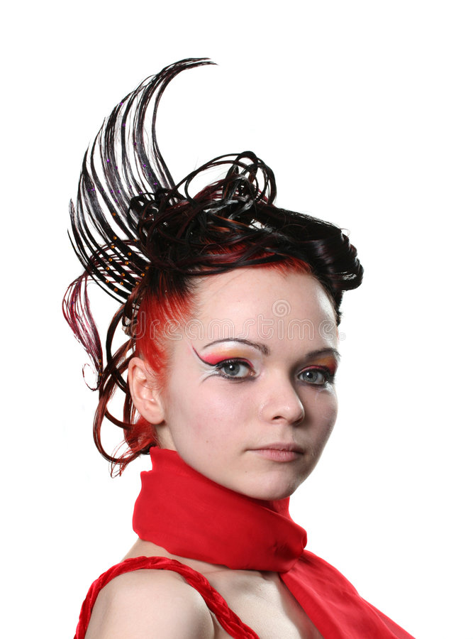 Hairdress creativos fotografía de archivo