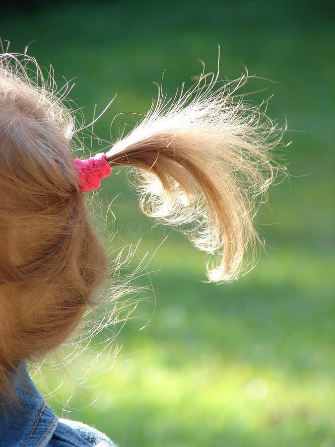Hairdress della bambina sul sole immagine stock libera da diritti