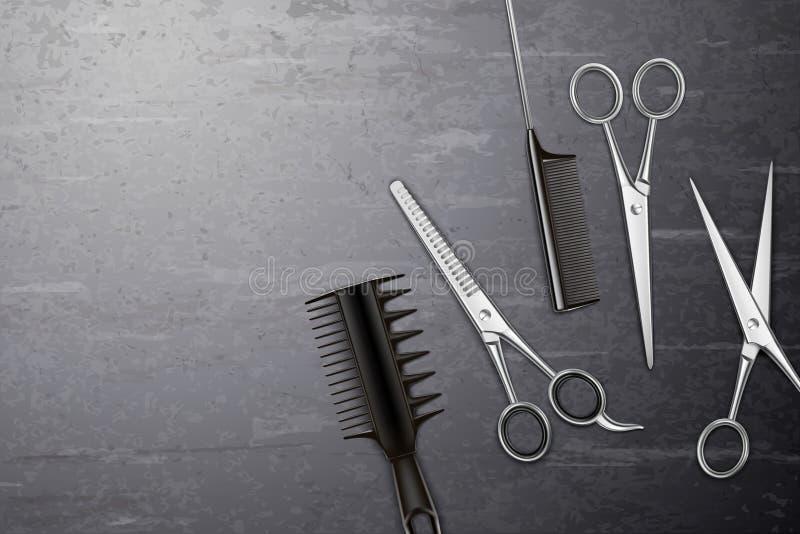 Hairdress foggia il fondo illustrazione vettoriale
