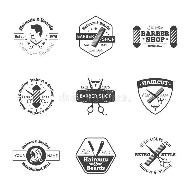 Hairdress Logo Set stock abbildung