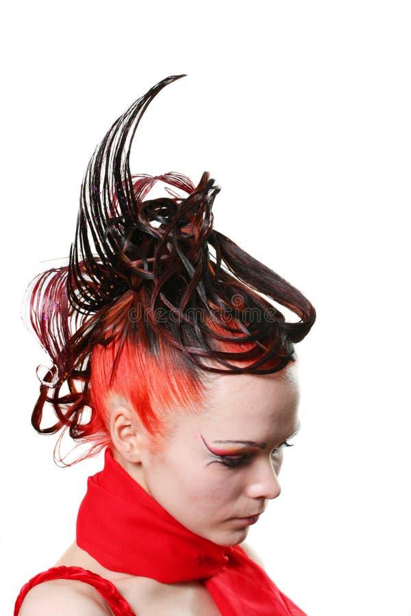 hairdress twórczej zdjęcie stock