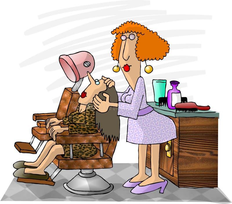 Hairdresser royalty free illustration