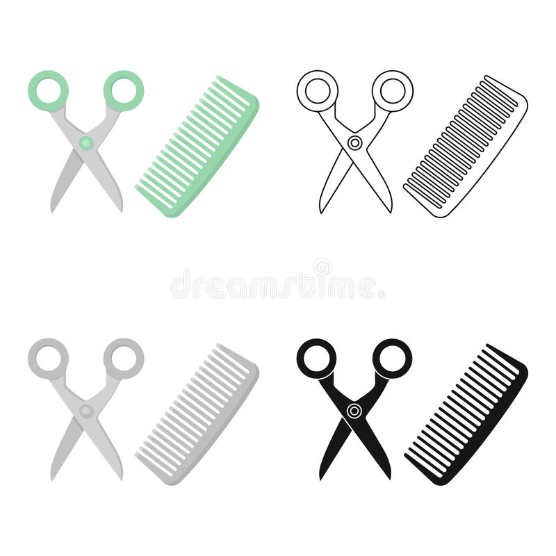 Hairdresser icon in cartoon style isolated on white background. Cat symbol stock vector illustration. vector illustration