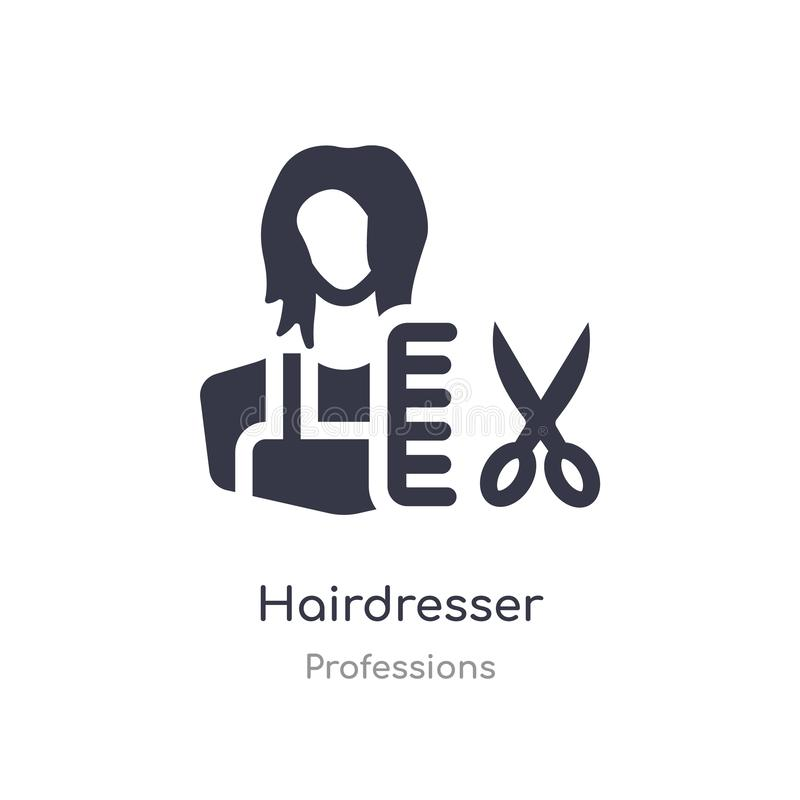 hairdresser icon. isolated hairdresser icon vector illustration from professions collection. editable sing symbol can be use for vector illustration