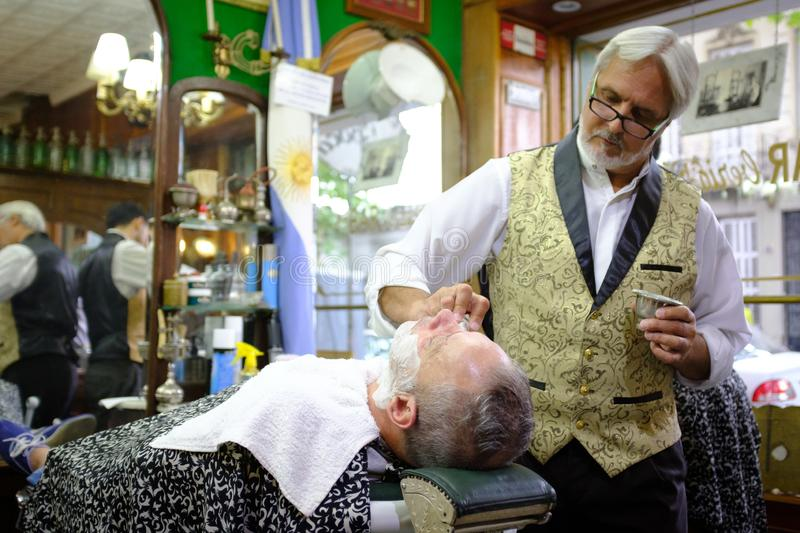hairdresser for men of the time royalty free stock photography