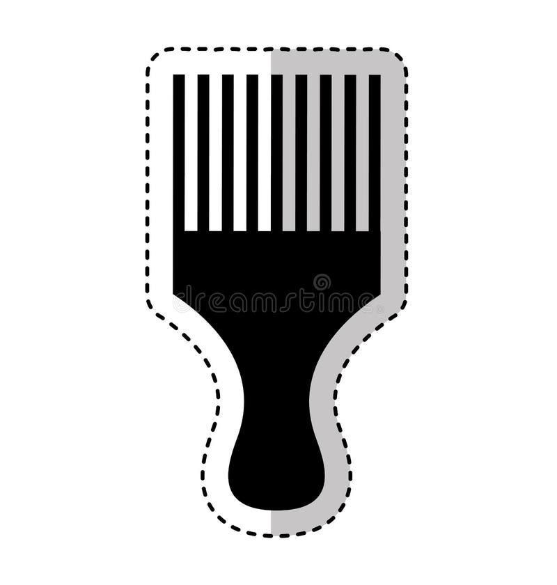 Hairdresser rake comb isolated icon. Vector illustration design royalty free illustration