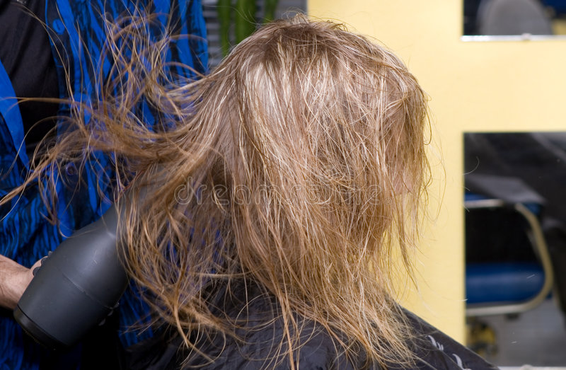 Hairdresser's stock photo