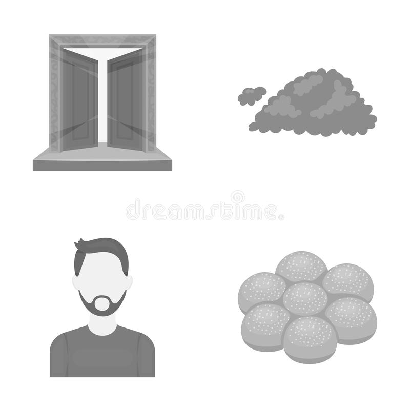 Hairdresser, salon, religion and other web icon in monochrome style., desserts, food, business icons in set collection. Hairdresser, salon, religion and other vector illustration