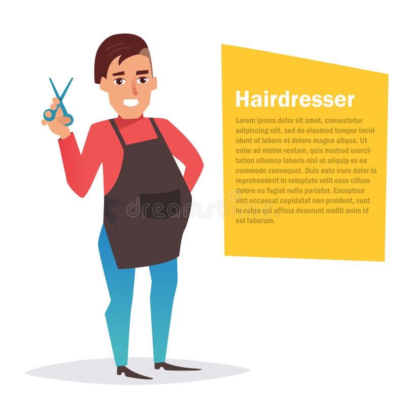 hairdresser Vetor cartoon ilustração do vetor