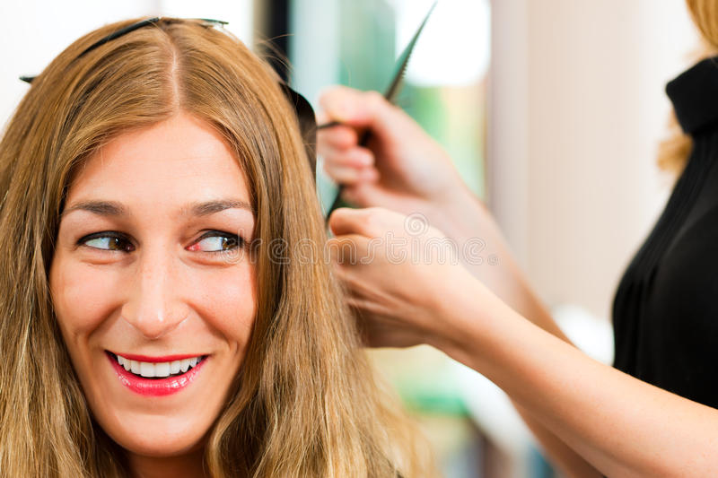 Download At The Hairdresser - Woman Gets New Hair Colour Stock Image - Image: 27368713