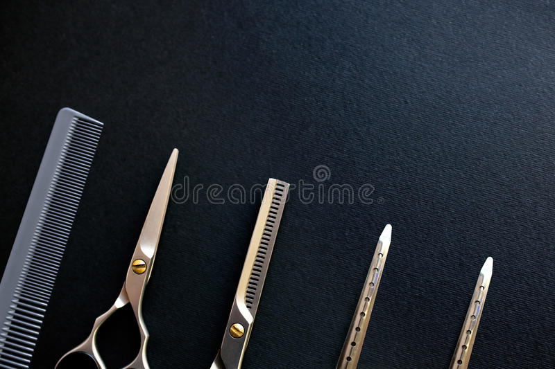 Hairdressers instruments stock photos