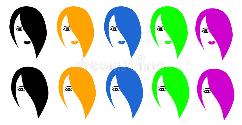 Download Hairdresses vektor abbildung. Illustration von auge, graphik - 9092132