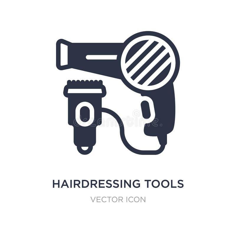 hairdressing εικονίδιο εργαλείων στο άσπρο υπόβαθρο Απλή απεικόνιση στοιχείων από την έννοια τεχνολογίας διανυσματική απεικόνιση