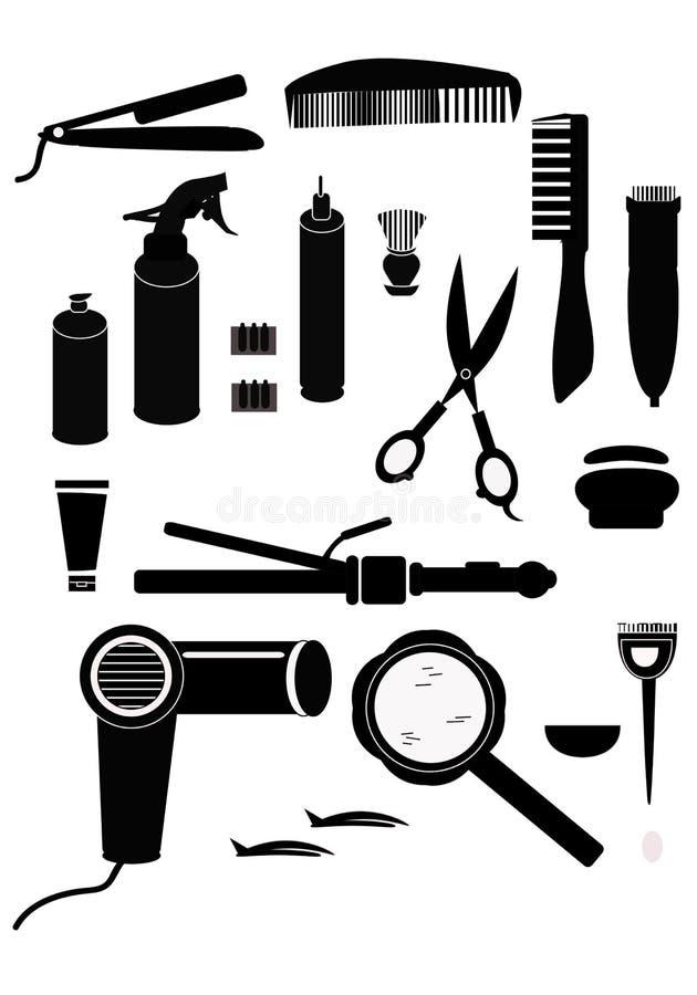 Hairdressing προμήθειες στοκ φωτογραφία με δικαίωμα ελεύθερης χρήσης