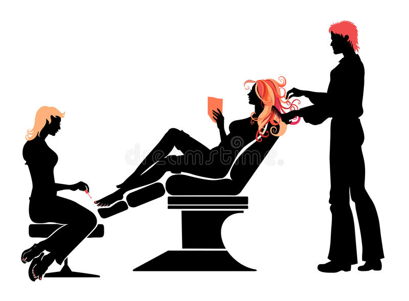 Hairdressing σαλόνι ελεύθερη απεικόνιση δικαιώματος