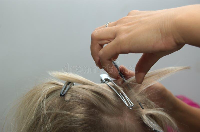 Hairdressing imagem de stock royalty free