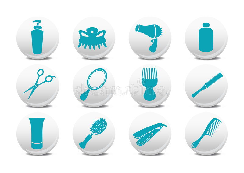 Download Hairdressing salon buttons stock vector. Image of cutting - 9188475