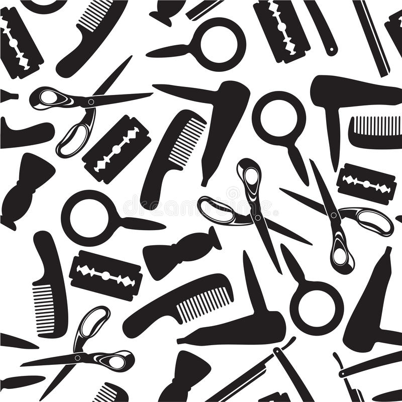 Hairdressing saloon background vector illustration