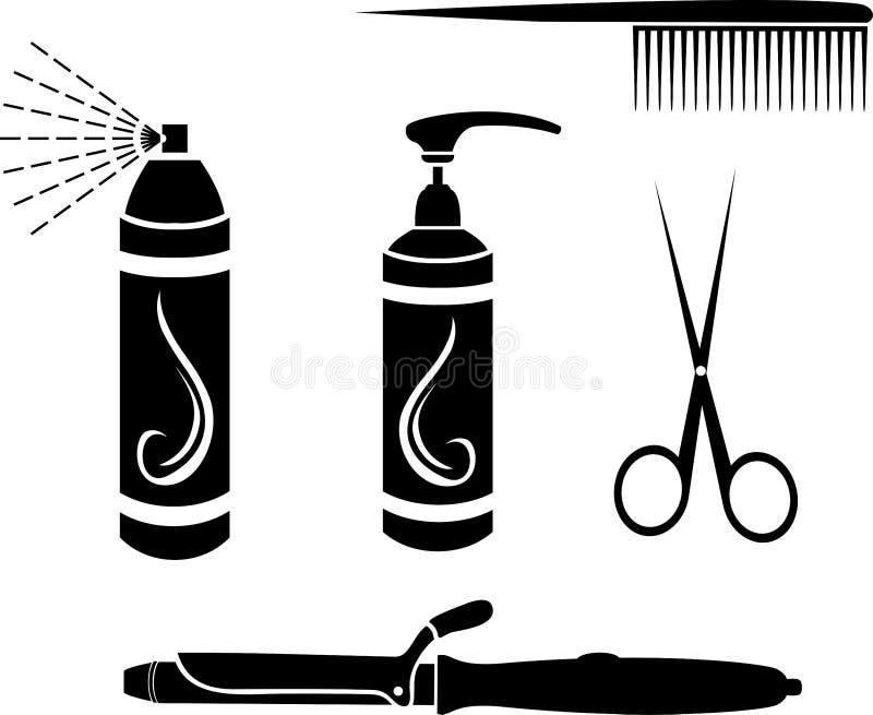 Download Hairdressing set stock vector. Illustration of equipment - 28017669