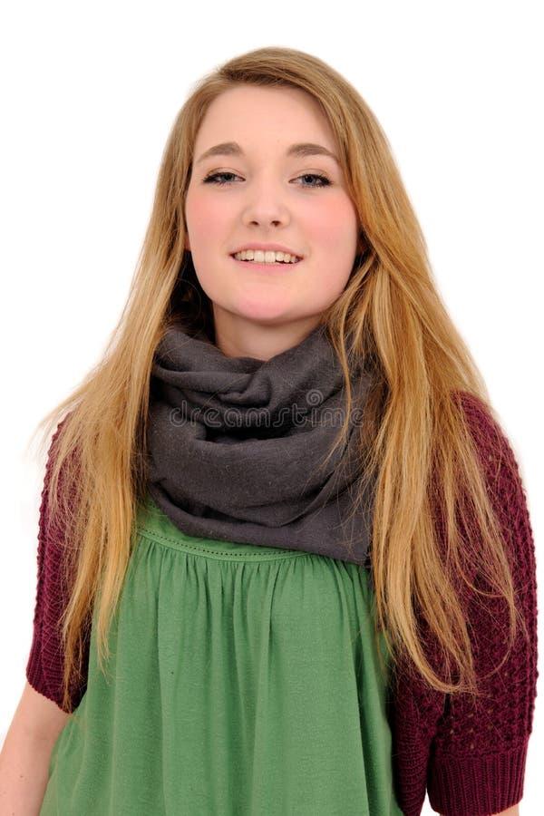 haired hippie för härlig flicka long royaltyfri bild