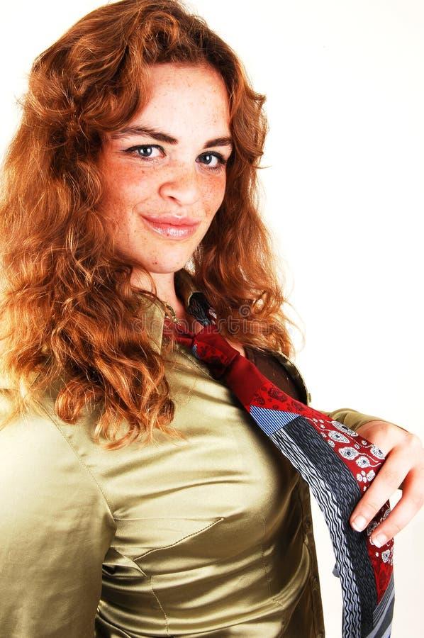 haired nätt red för flicka royaltyfria bilder