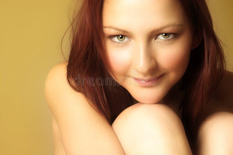 haired rött kvinnabarn royaltyfri fotografi