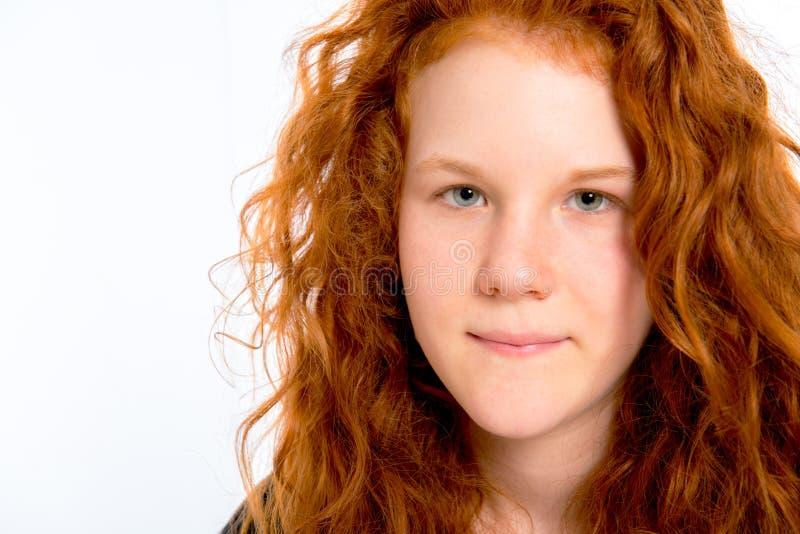 haired red för flicka arkivfoton
